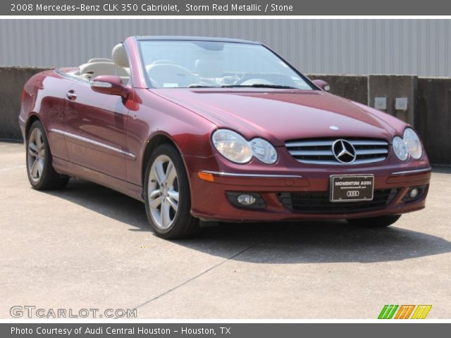 2008 Mercedes-Benz CLK 350 Cabriolet in Storm Red Metallic