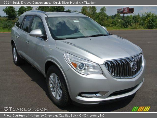 Quick Silver Metallic 2014 Buick Enclave Convenience Titanium Interior