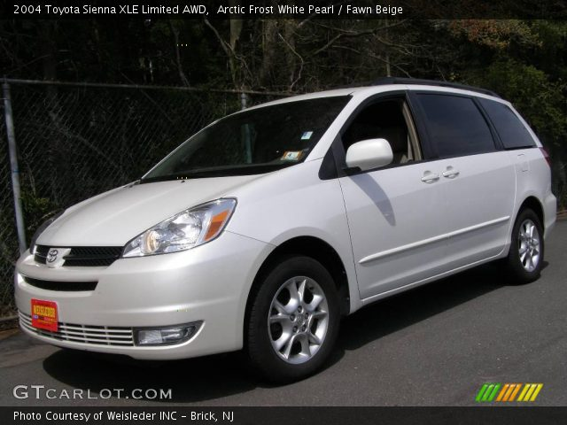 arctic frost white pearl 2004 toyota sienna xle limited awd fawn beige interior gtcarlot. Black Bedroom Furniture Sets. Home Design Ideas