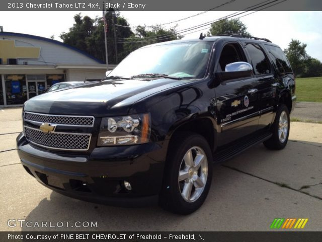 black 2013 chevrolet tahoe ltz 4x4 ebony interior vehicle archive 85184479. Black Bedroom Furniture Sets. Home Design Ideas
