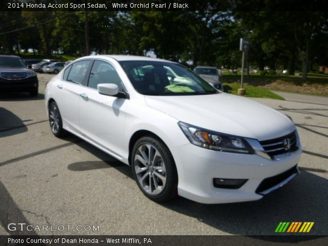 White Orchid Pearl - 2014 Honda Accord Sport Sedan - Black Interior ...