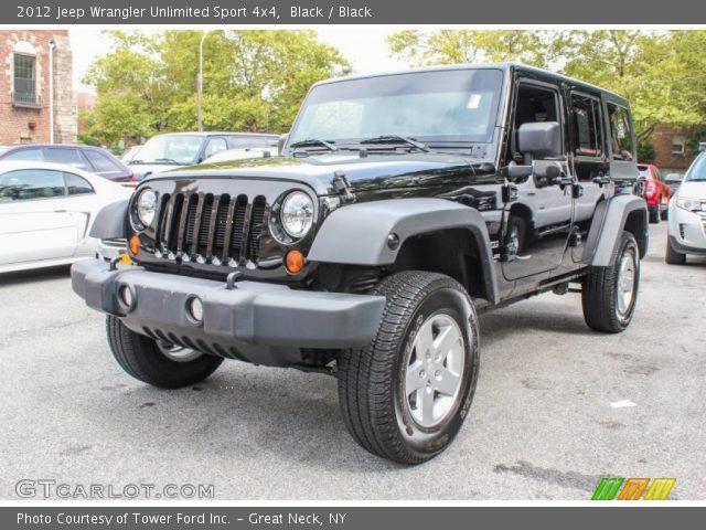 Black 2012 jeep wrangler unlimited sport 4x4 black - 2012 jeep wrangler unlimited interior ...