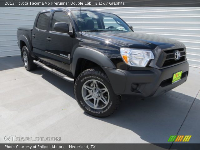 black 2013 toyota tacoma v6 prerunner double cab graphite interior vehicle. Black Bedroom Furniture Sets. Home Design Ideas