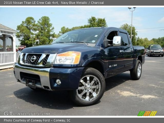 navy blue metallic 2010 nissan titan le crew cab 4x4. Black Bedroom Furniture Sets. Home Design Ideas
