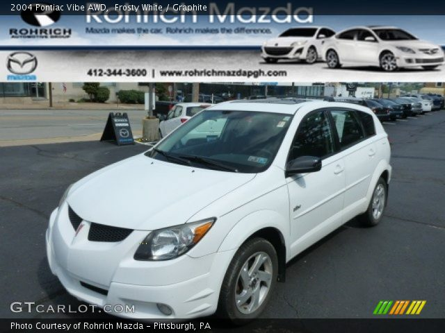 2004 Pontiac Vibe AWD in Frosty White