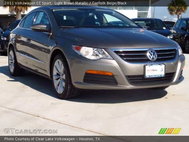 light brown metallic 2011 volkswagen cc sport cornsilk beige black interior. Black Bedroom Furniture Sets. Home Design Ideas