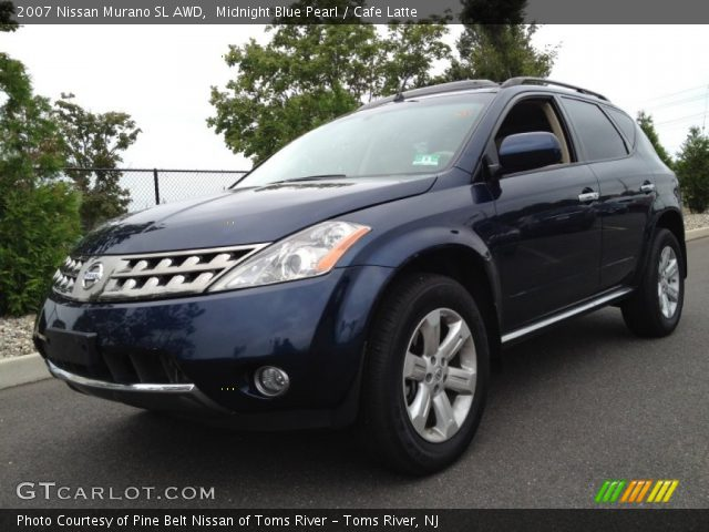 Midnight Blue Pearl 2007 Nissan Murano Sl Awd Cafe