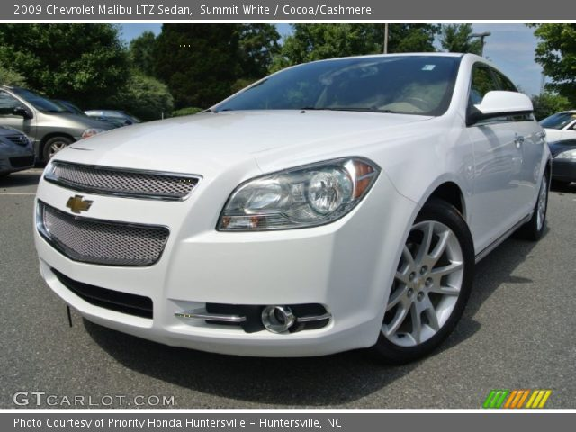 summit white 2009 chevrolet malibu ltz sedan cocoa. Black Bedroom Furniture Sets. Home Design Ideas