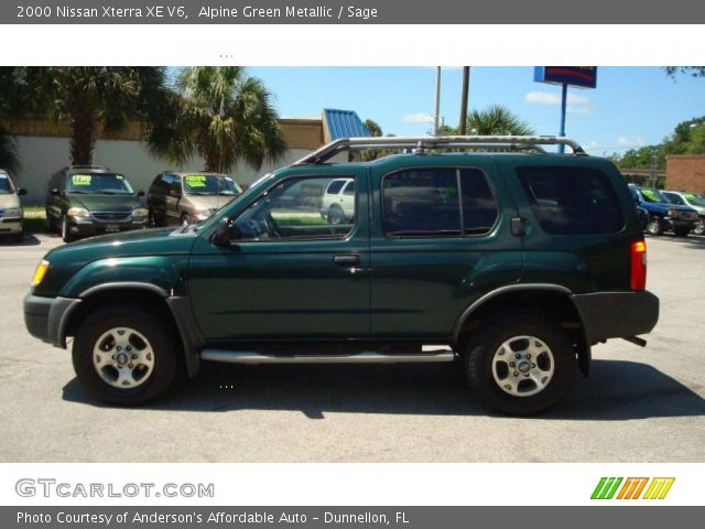 alpine green metallic 2000 nissan xterra xe v6 sage. Black Bedroom Furniture Sets. Home Design Ideas