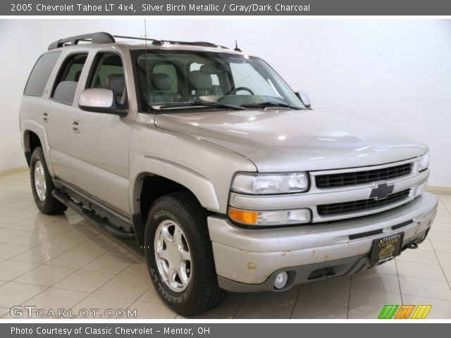 silver birch metallic 2005 chevrolet tahoe lt 4x4 gray. Black Bedroom Furniture Sets. Home Design Ideas