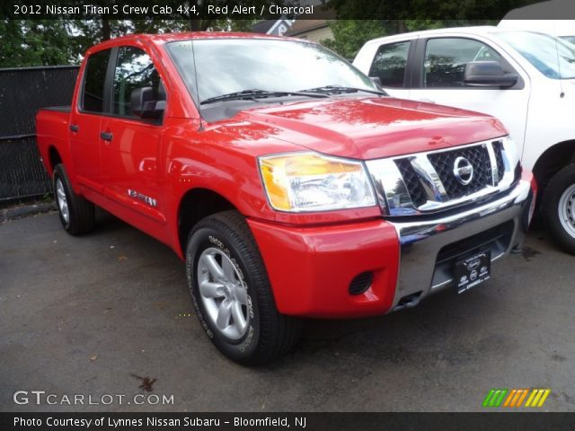 red alert 2012 nissan titan s crew cab 4x4 charcoal interior vehicle. Black Bedroom Furniture Sets. Home Design Ideas
