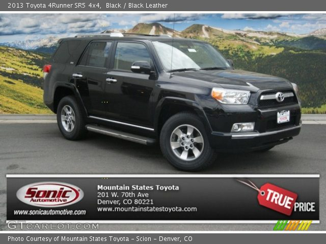 black 2013 toyota 4runner sr5 4x4 black leather interior vehicle archive. Black Bedroom Furniture Sets. Home Design Ideas