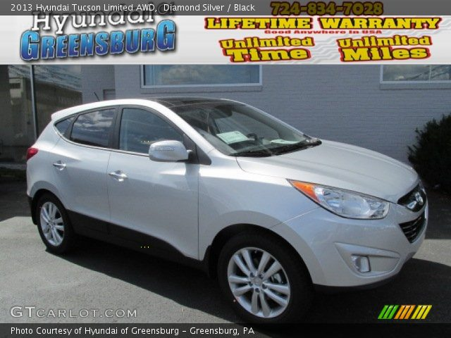 2013 Hyundai Tucson Limited AWD in Diamond Silver. Click to see large