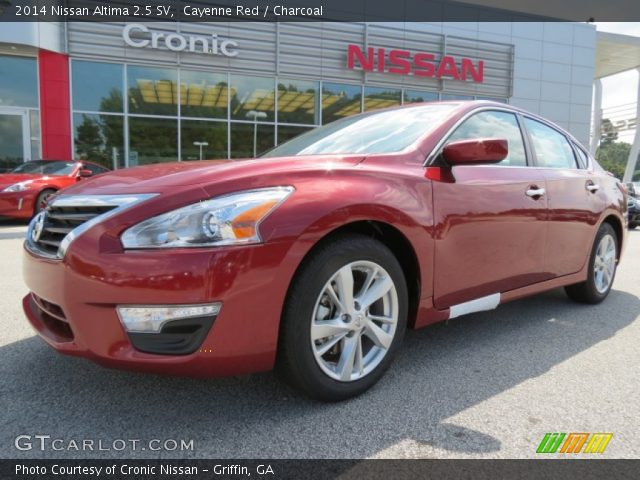 2014 nissan altima 2 5 sv in cayenne red click to see large photo 2014 ...
