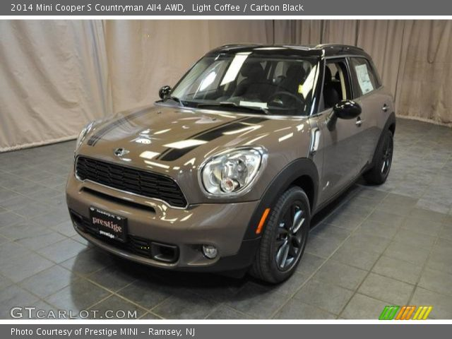 light coffee 2014 mini cooper s countryman all4 awd carbon black interior. Black Bedroom Furniture Sets. Home Design Ideas