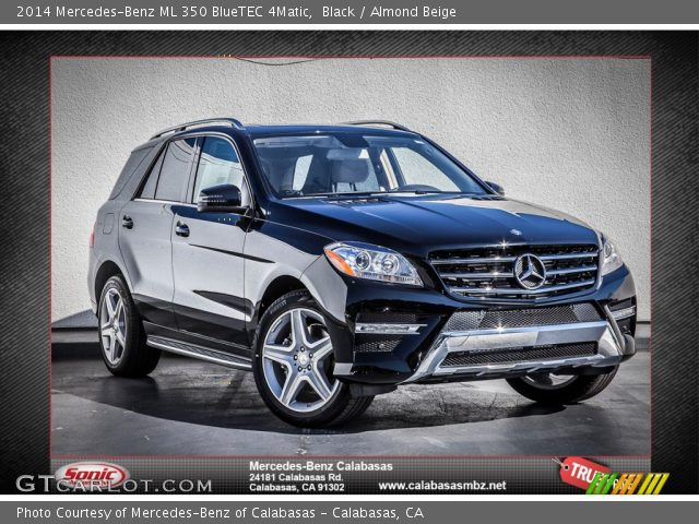 black 2014 mercedes benz ml 350 bluetec 4matic almond beige interior. Black Bedroom Furniture Sets. Home Design Ideas