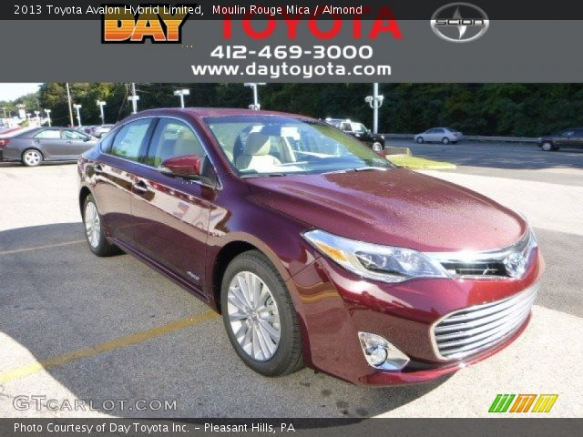 moulin rouge mica 2013 toyota avalon hybrid limited almond interior vehicle. Black Bedroom Furniture Sets. Home Design Ideas