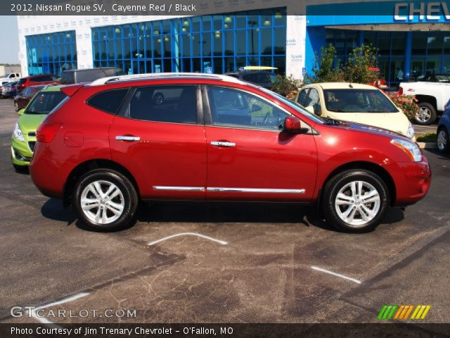 Cayenne red 2012 nissan rogue sv black interior - 2012 nissan rogue exterior colors ...