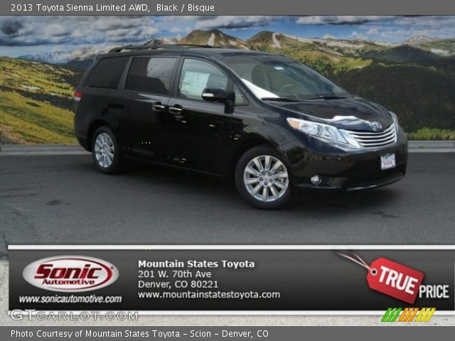black 2013 toyota sienna limited awd bisque interior. Black Bedroom Furniture Sets. Home Design Ideas