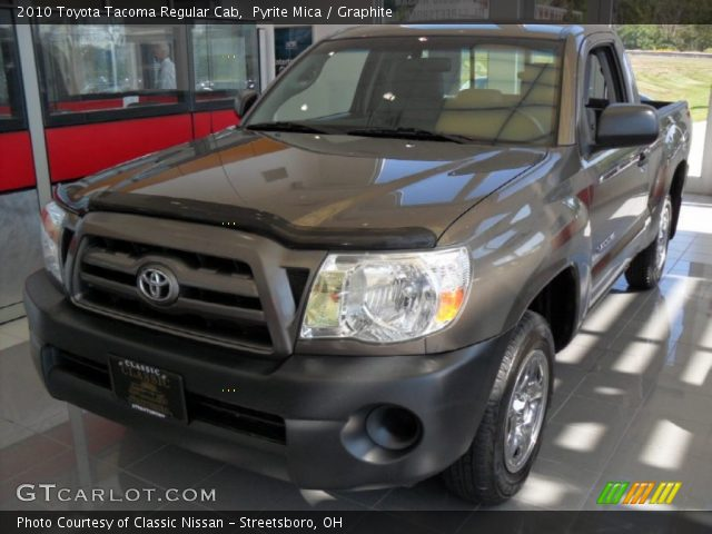 pyrite mica 2010 toyota tacoma regular cab graphite interior vehicle. Black Bedroom Furniture Sets. Home Design Ideas