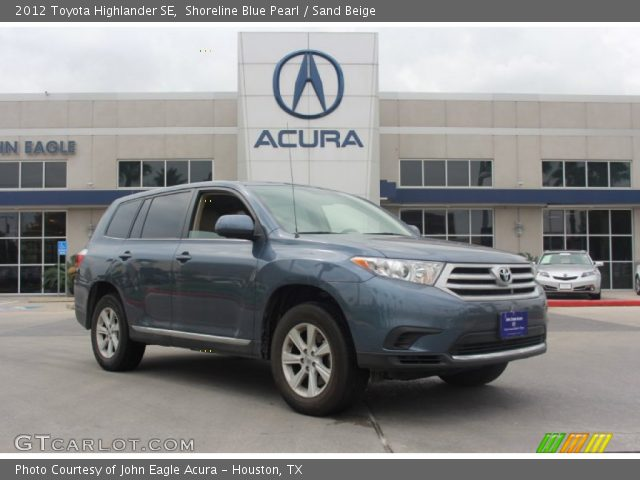 2012 Toyota Highlander SE in Shoreline Blue Pearl
