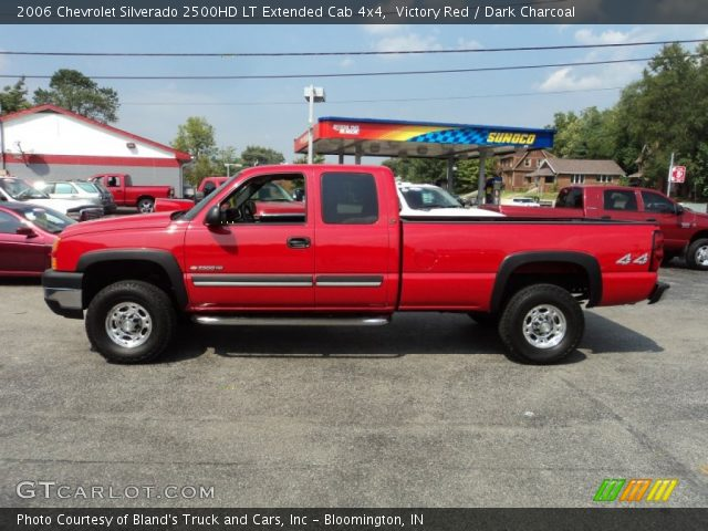 victory red 2006 chevrolet silverado 2500hd lt extended cab 4x4 dark charcoal interior. Black Bedroom Furniture Sets. Home Design Ideas