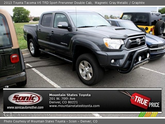 magnetic gray metallic 2013 toyota tacoma v6 trd sport prerunner double cab graphite. Black Bedroom Furniture Sets. Home Design Ideas