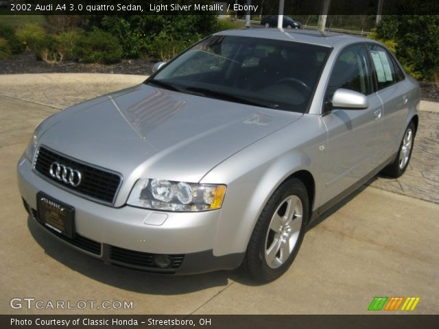 light silver metallic 2002 audi a4 3 0 quattro sedan. Black Bedroom Furniture Sets. Home Design Ideas