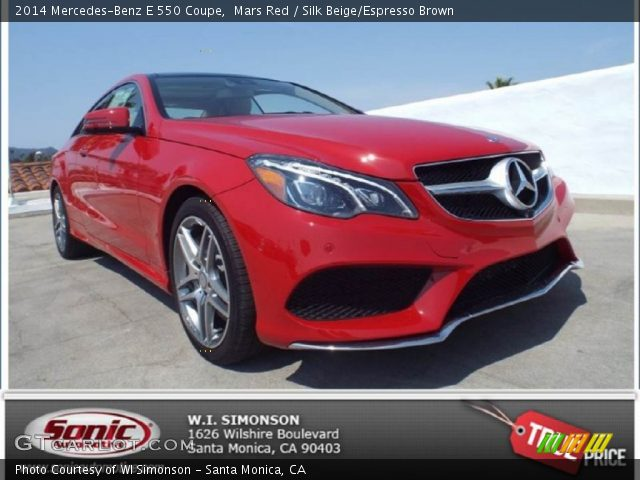 2014 Mercedes-Benz E 550 Coupe in Mars Red