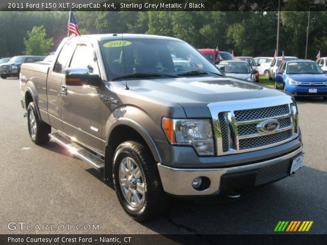 sterling grey metallic 2011 ford f150 xlt supercab 4x4 black interior. Black Bedroom Furniture Sets. Home Design Ideas
