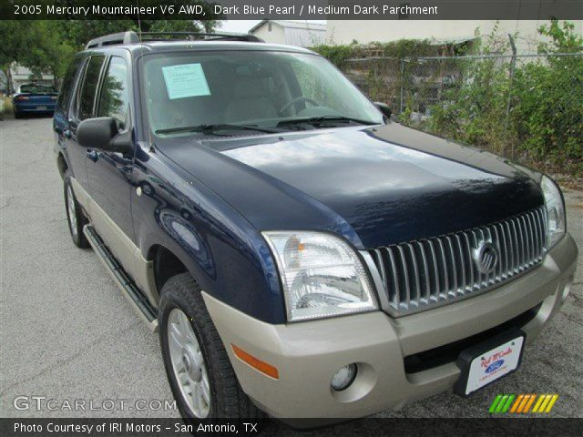 Dark Blue Pearl 2005 Mercury Mountaineer V6 Awd Medium