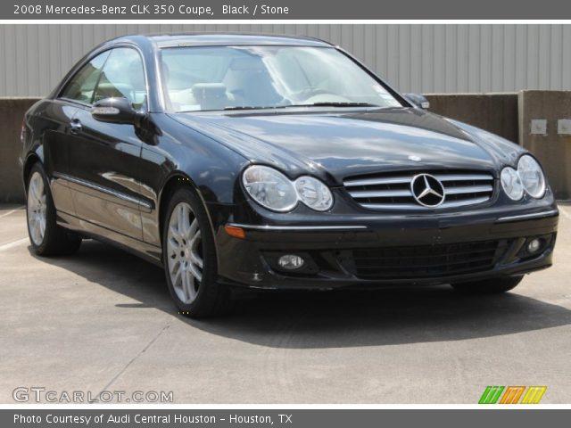 Black 2008 mercedes benz clk 350 coupe stone interior for 2008 mercedes benz clk350