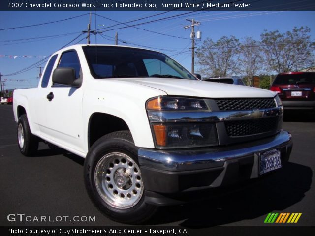 summit white 2007 chevrolet colorado work truck extended. Black Bedroom Furniture Sets. Home Design Ideas