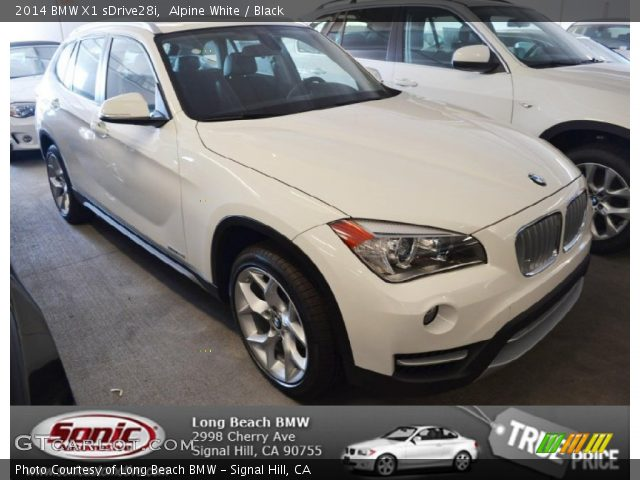 alpine white 2014 bmw x1 sdrive28i black interior vehicle archive 85642704. Black Bedroom Furniture Sets. Home Design Ideas