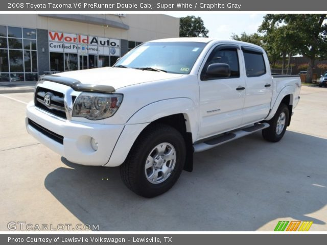 super white 2008 toyota tacoma v6 prerunner double cab graphite gray interior. Black Bedroom Furniture Sets. Home Design Ideas