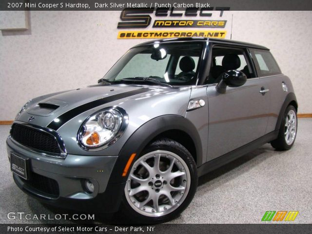 dark silver metallic 2007 mini cooper s hardtop punch carbon black interior. Black Bedroom Furniture Sets. Home Design Ideas