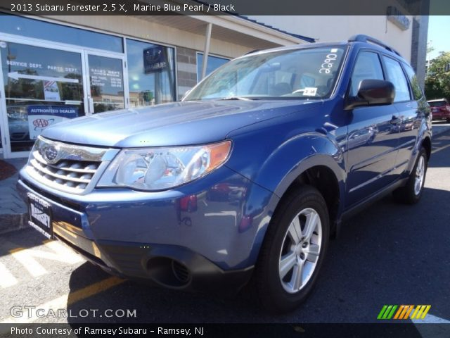 marine blue pearl 2013 subaru forester 2 5 x black interior vehicle archive. Black Bedroom Furniture Sets. Home Design Ideas