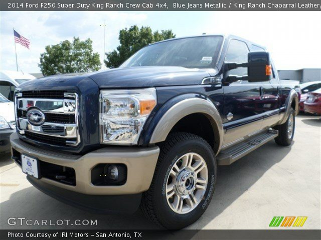 Blue Jeans Metallic 2014 Ford F250 Super Duty King Ranch Crew Cab 4x4 King Ranch Chaparral