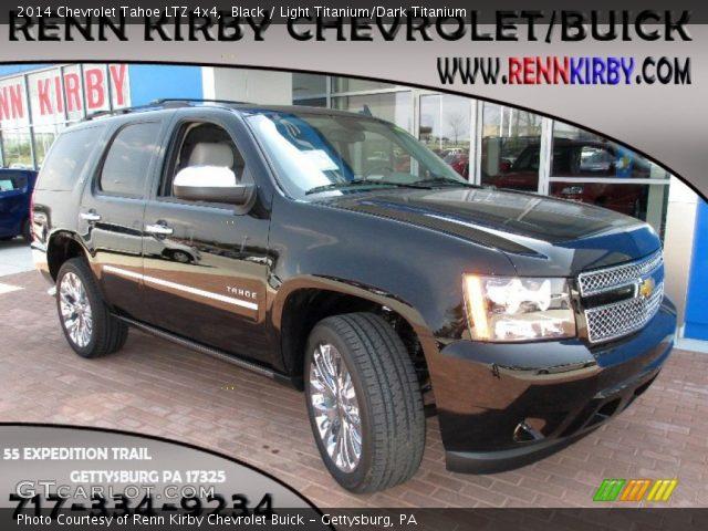 Black 2014 Chevrolet Tahoe Ltz 4x4 Light Titanium Dark