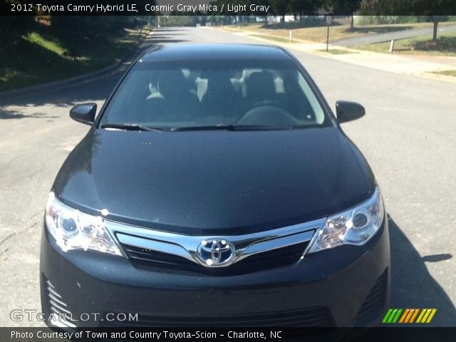 Cosmic Gray Mica 2012 Toyota Camry Hybrid Le Light