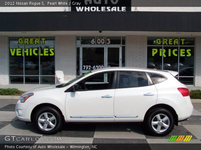 Pearl white 2012 nissan rogue s gray interior - 2012 nissan rogue exterior colors ...