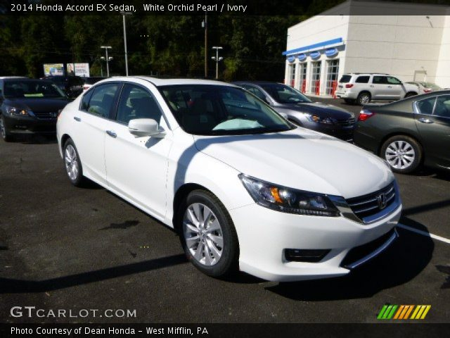 White orchid pearl 2014 honda accord ex sedan ivory for 2014 honda accord white