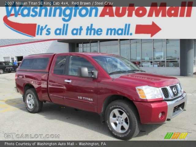 red brawn 2007 nissan titan se king cab 4x4 steel gray interior vehicle. Black Bedroom Furniture Sets. Home Design Ideas
