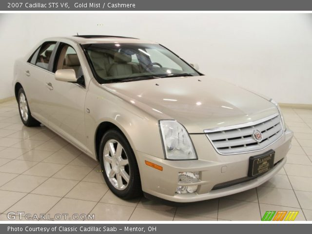 2007 Cadillac STS V6 in Gold Mist