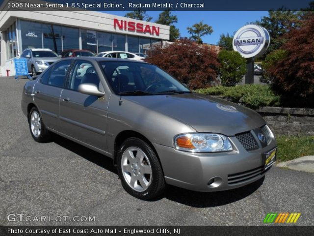 radium metallic 2006 nissan sentra 1 8 s special edition charcoal interior. Black Bedroom Furniture Sets. Home Design Ideas