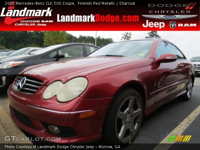 2005 Mercedes-Benz CLK 500 Coupe in Firemist Red Metallic