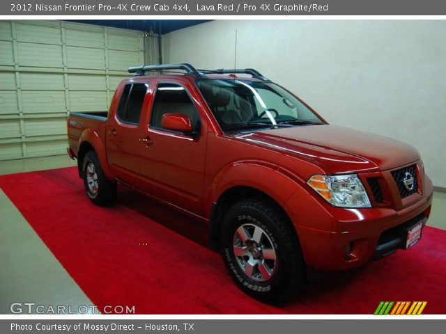 lava red 2012 nissan frontier pro 4x crew cab 4x4 pro 4x graphite red interior gtcarlot. Black Bedroom Furniture Sets. Home Design Ideas