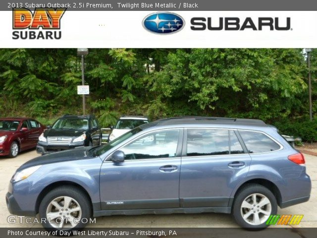 Twilight Blue Metallic 2013 Subaru Outback 25i Premium Black