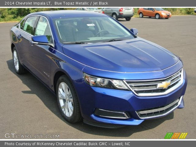 2014 Chevrolet Impala LT in Blue Topaz Metallic. Click to see large