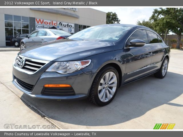 island gray metallic 2012 volkswagen cc sport black interior vehicle. Black Bedroom Furniture Sets. Home Design Ideas